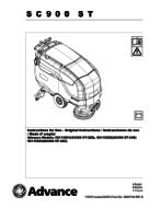SC900 Manual de peças